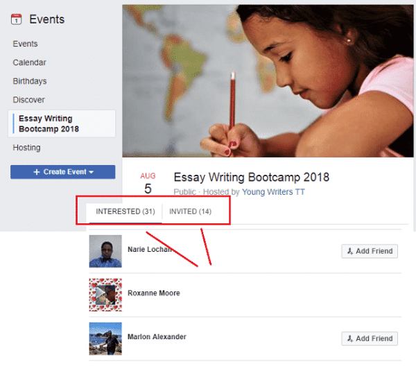 essay-writing-facebook-event