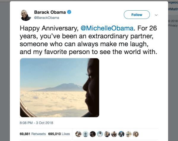 Barack Obama most followers on Twitter
