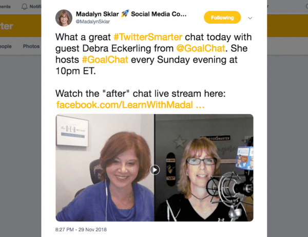 Madalyn Sklar Twitter chat influencers