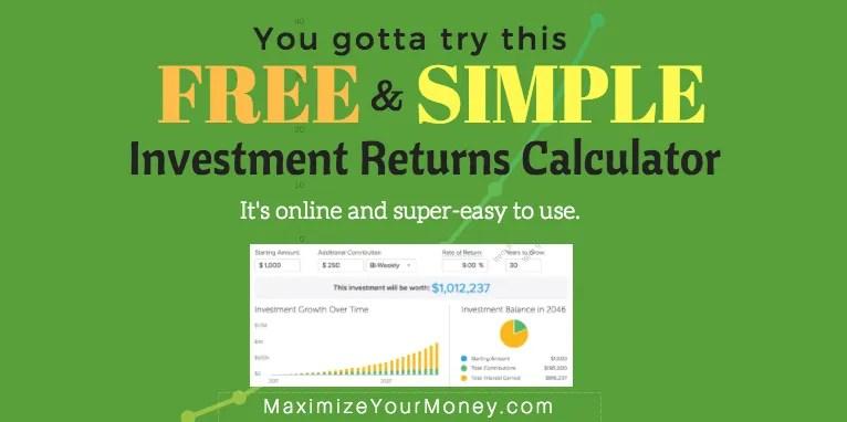 FREE Online Investment Returns Calculator