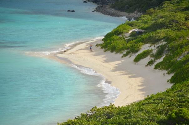 Typical Virgin Gorda beach.