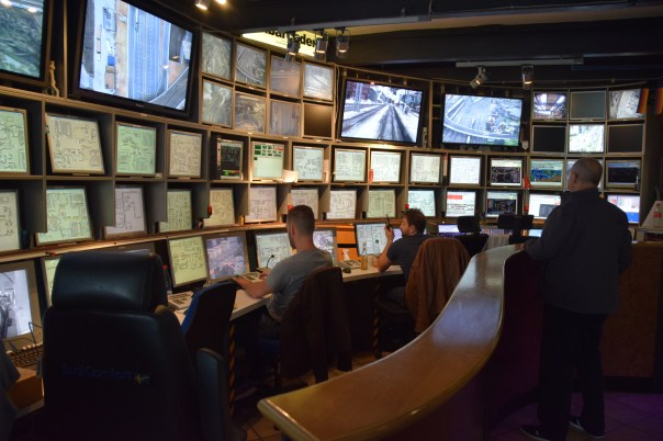 I counted 78 monitors in the impressive Control Centr.