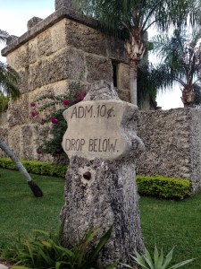 The early admission gate.  Now on display at the Coral Castle Museum south of Miami in Homestead, FL.