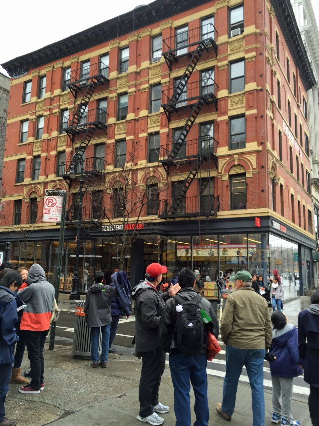 The Tenement Museum, Lower East Side on Orchard Street.