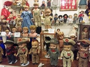 Dolls at Crane's Museum.