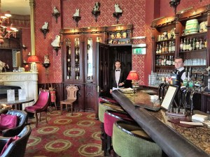 The wonderful bar at Dromoland, Ireland.