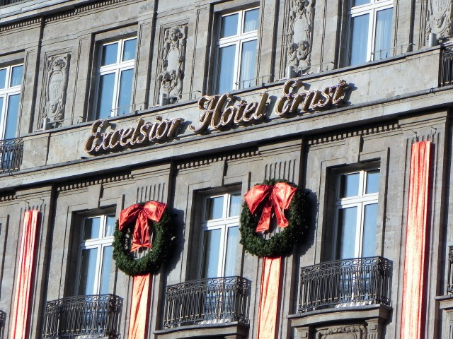 All ready for Christmas at Excelsior Hotel Ernst, Cologne.