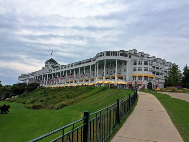 The incredible veranda at the Grand Hotel Mackinac Island.