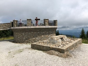 The Summit and Dr. Mitchell's grave at Mount Mitchell State Park