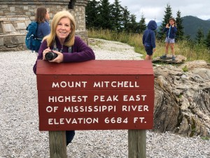 At the summit of Mount Mitchell State Park