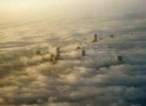 Skyline thru Clouds