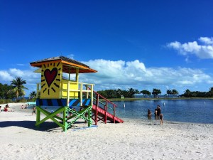Miami Bayfront Park, lifeguard stand.