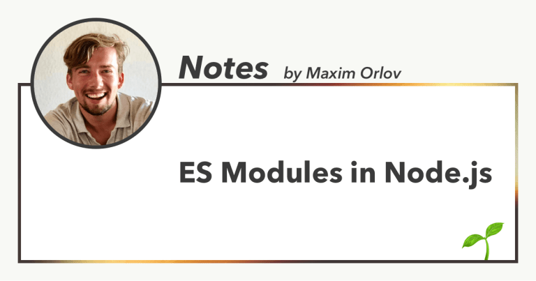 ES Modules in Node.js