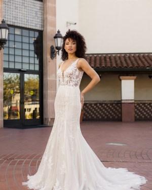 Tulle Lace Wedding dress Maxims Wedding Mermaid Boho Plus size Merm