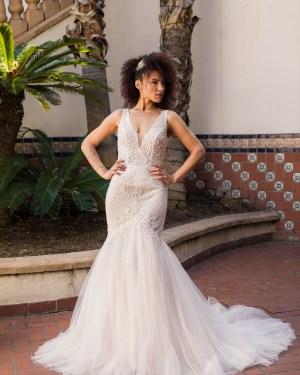 Tulle, Boho, Simple, Wedding dress, Maxims Wedding, Mermaid, Lace