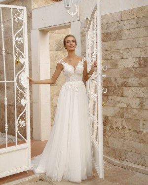 lace, tulle, crepe, satin, belt, plus size, Maxims wedding, gown, dress, wedding, A line, Mermaid, Boho, Princess, Ariamo, new collection 2022, Madioni