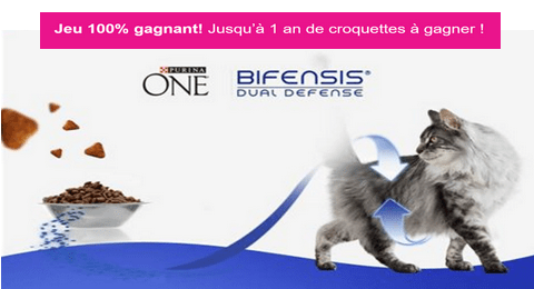 concours purina one 200 x 1 an de croquettes pour chat gagner maximum chantillons. Black Bedroom Furniture Sets. Home Design Ideas