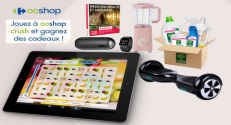 Carrefour – Ooshop : Grand jeu Ooshop Crush 35 lots à gagner