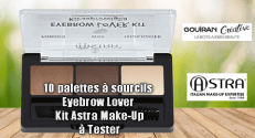 Gouiran Créative Test Produit : Palette à sourcils Eyebrow Lover Kit Astra Make-Up