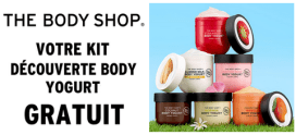 Échantillons gratuits The Body Shop : Kit découverte Body Yogurt offert en magasin