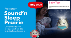 Test de Produit ConsoBaby : Veilleuse projecteur Sound'n Sleep TINY LOVE