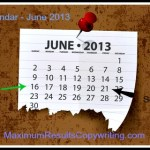 Looking Ahead – Marketing Calendar June 2013