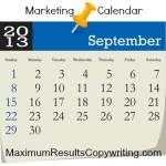 Looking Ahead – Marketing Calendar September 2013