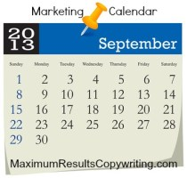Marketing Calendar September 2013