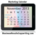 Looking Ahead – Marketing Calendar November 2013
