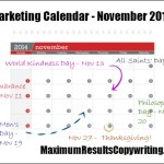 Looking Ahead – Marketing Calendar November 2014