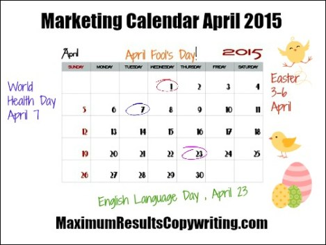 Marketing Calendar April 2015