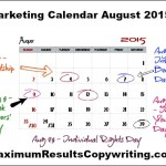 Looking Ahead – Marketing Calendar August 2015