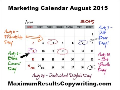 Marketing Calendar August 2015