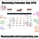 Looking Ahead – Marketing Calendar July 2016