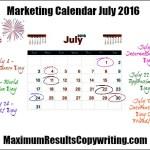 Looking Ahead – Marketing Calendar July 2016