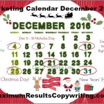 Looking Ahead – Marketing Calendar December 2016