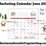 Looking Ahead – Marketing Calendar June 2017