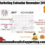 Looking Ahead – Marketing Calendar November 2017