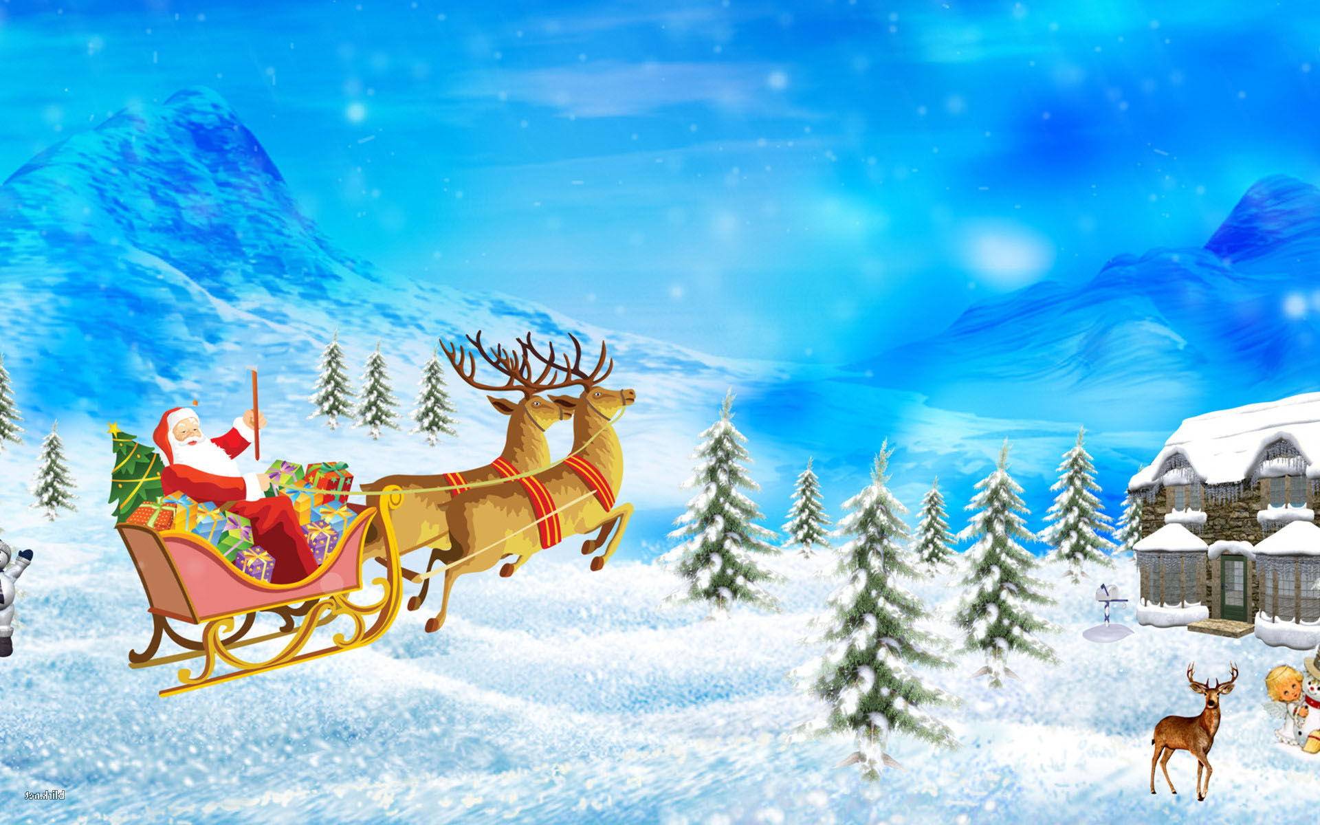 Fonds d'écran Père Noël 2015 - MaximumWallHD