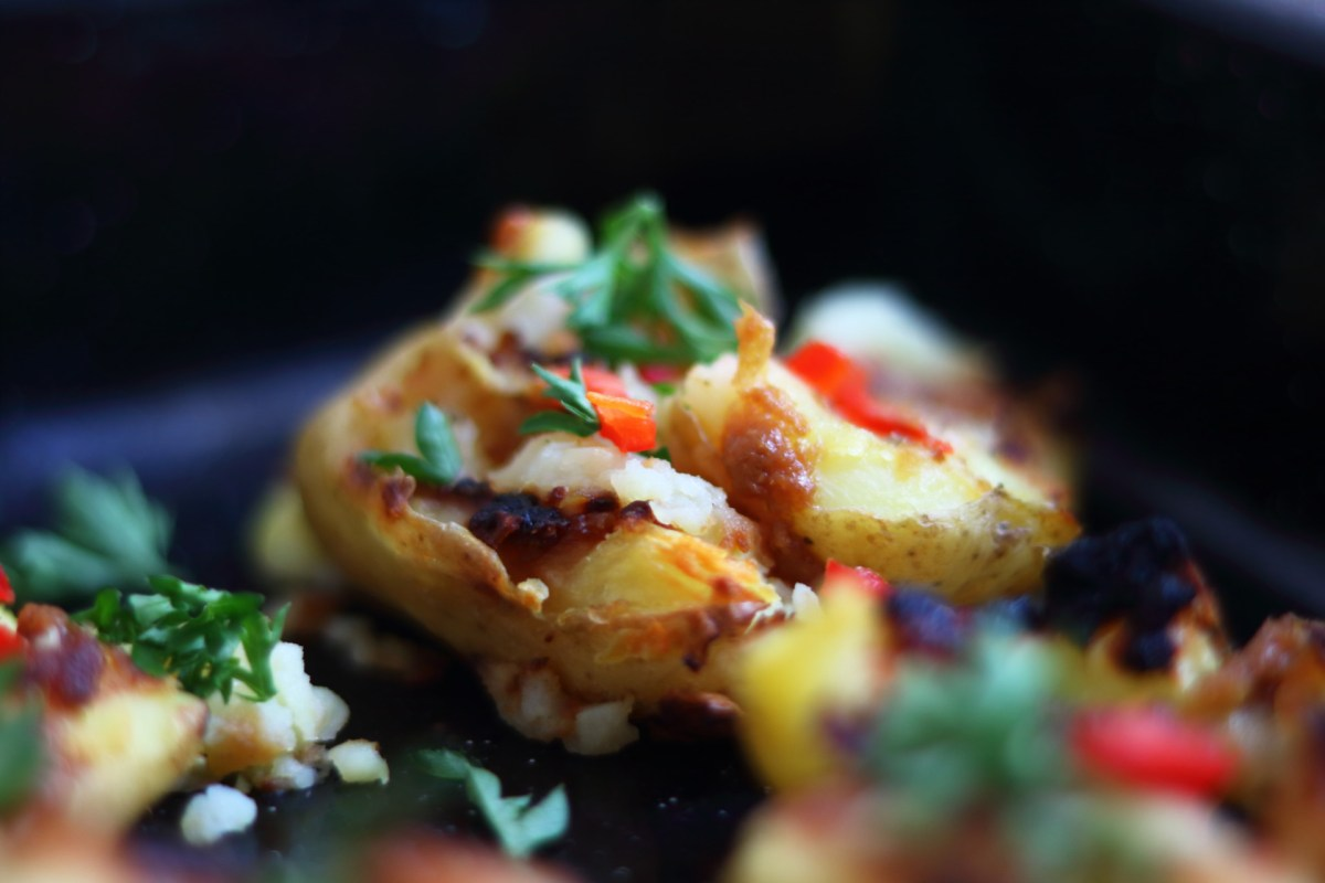 Miso Smashed Potatoes
