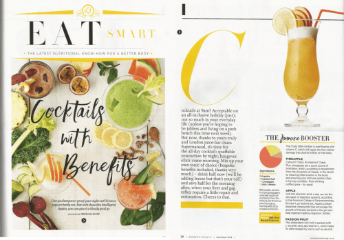 Women's Health UK - Eat Smart. Four page spread.