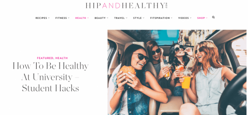 Hip & Healthy - Healthy Student Hacks