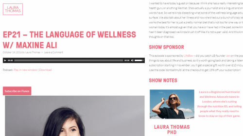 The Language Of Wellness with Laura Thomas PHD