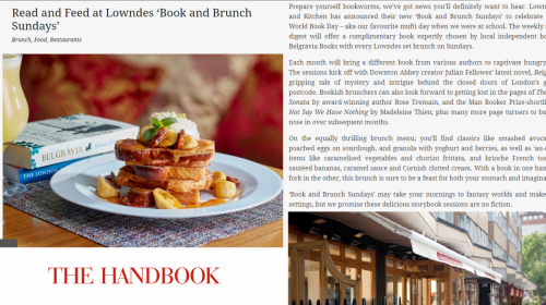 The Handbook - Read and feed at Lowndes 'book and brunch Sundays'