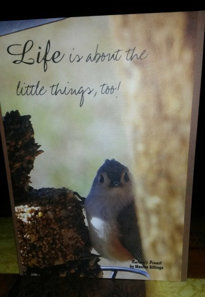 ZAZZLE CARD (LITTLE THINGS) FRT