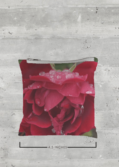 VIDA FOLDAWAY TOTE (POUCH) FRESH RED ROSE