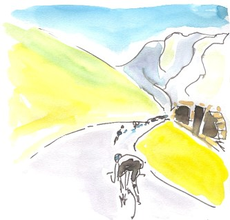 Descent from Tourmalet