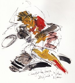 Rugby Art, Six Nations - England vs Wales, Caught by Itoje, by Maxine Dodd