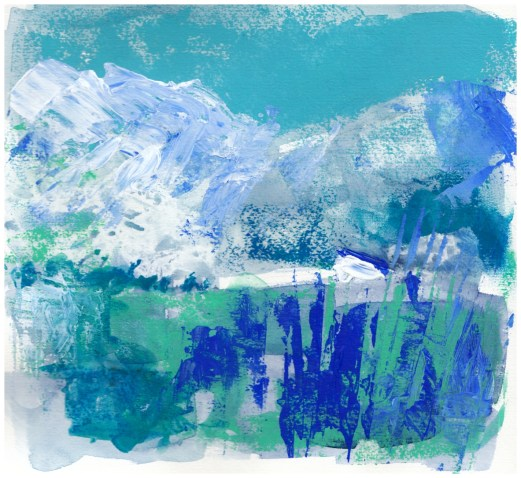 Landscape art, Across the blue