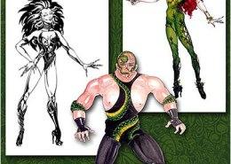 Batman movie costume illustrations: Maxine Miller